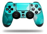 Vinyl Decal Skin Wrap compatible with Sony PlayStation 4 Dualshock Controller Bokeh Hex Neon Teal (PS4 CONTROLLER NOT INCLUDED)