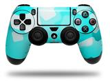 Vinyl Decal Skin Wrap compatible with Sony PlayStation 4 Dualshock Controller Bokeh Squared Neon Teal (PS4 CONTROLLER NOT INCLUDED)