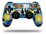 Vinyl Decal Skin Wrap compatible with Sony PlayStation 4 Dualshock Controller Tropical Fish 01 Blue Medium (PS4 CONTROLLER NOT INCLUDED)