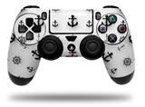 Vinyl Decal Skin Wrap compatible with Sony PlayStation 4 Dualshock Controller Nautical Anchors Away 02 White (PS4 CONTROLLER NOT INCLUDED)