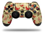 Vinyl Decal Skin Wrap compatible with Sony PlayStation 4 Dualshock Controller Crabs and Shells Yellow Sunshine (PS4 CONTROLLER NOT INCLUDED)