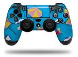 Vinyl Decal Skin Wrap compatible with Sony PlayStation 4 Dualshock Controller Beach Party Umbrellas Blue Medium (PS4 CONTROLLER NOT INCLUDED)