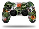 Vinyl Decal Skin Wrap compatible with Sony PlayStation 4 Dualshock Controller Famingos and Flowers White (PS4 CONTROLLER NOT INCLUDED)