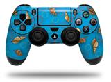 Vinyl Decal Skin Wrap compatible with Sony PlayStation 4 Dualshock Controller Sea Shells 02 Blue Medium (PS4 CONTROLLER NOT INCLUDED)