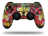Vinyl Decal Skin Wrap compatible with Sony PlayStation 4 Dualshock Controller Beach Flowers 02 Coral (PS4 CONTROLLER NOT INCLUDED)