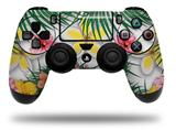 Vinyl Decal Skin Wrap compatible with Sony PlayStation 4 Dualshock Controller Beach Flowers 02 White (PS4 CONTROLLER NOT INCLUDED)