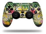 Vinyl Decal Skin Wrap compatible with Sony PlayStation 4 Dualshock Controller Beach Flowers 02 Yellow Sunshine (PS4 CONTROLLER NOT INCLUDED)