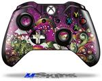 Grungy Flower Bouquet - Decal Style Skin fits Microsoft XBOX One Wireless Controller