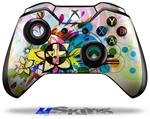 Floral Splash - Decal Style Skin fits Microsoft XBOX One Wireless Controller