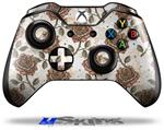 Flowers Pattern Roses 20 - Decal Style Skin fits Microsoft XBOX One Wireless Controller