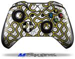Locknodes 01 Yellow - Decal Style Skin fits Microsoft XBOX One Wireless Controller