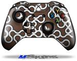 Locknodes 03 Chocolate Brown - Decal Style Skin fits Microsoft XBOX One Wireless Controller