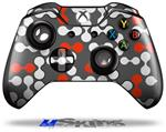 Locknodes 04 Red - Decal Style Skin fits Microsoft XBOX One Wireless Controller