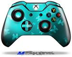 Bokeh Butterflies Neon Teal - Decal Style Skin fits Microsoft XBOX One Wireless Controller