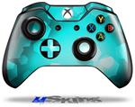 Bokeh Hex Neon Teal - Decal Style Skin fits Microsoft XBOX One Wireless Controller