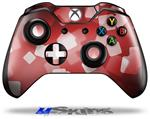 Bokeh Squared Red - Decal Style Skin fits Microsoft XBOX One Wireless Controller