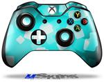 Bokeh Squared Neon Teal - Decal Style Skin fits Microsoft XBOX One Wireless Controller