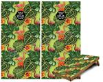 Cornhole Game Board Vinyl Skin Wrap Kit - Famingos and Flowers Sage Green fits 24x48 game boards (GAMEBOARDS NOT INCLUDED)