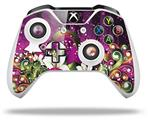 Skin Wrap for Microsoft XBOX One S / X Controller Grungy Flower Bouquet