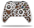 Skin Wrap for Microsoft XBOX One S / X Controller Locknodes 03 Chocolate Brown