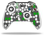 Skin Wrap for Microsoft XBOX One S / X Controller Locknodes 04 Green