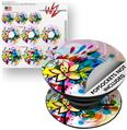 Decal Style Vinyl Skin Wrap 3 Pack for PopSockets Floral Splash (POPSOCKET NOT INCLUDED)