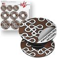 Decal Style Vinyl Skin Wrap 3 Pack for PopSockets Locknodes 03 Chocolate Brown (POPSOCKET NOT INCLUDED)