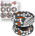 Decal Style Vinyl Skin Wrap 3 Pack for PopSockets Locknodes 04 Burnt Orange (POPSOCKET NOT INCLUDED)