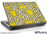 Laptop Skin (Medium) - Locknodes 03 Yellow
