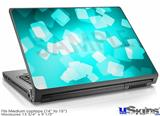 Laptop Skin (Medium) - Bokeh Squared Neon Teal