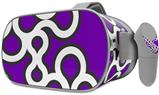 Decal style Skin Wrap compatible with Oculus Go Headset - Locknodes 03 Purple (OCULUS NOT INCLUDED)