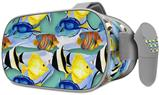 Decal style Skin Wrap compatible with Oculus Go Headset - Tropical Fish 01 Seafoam Green (OCULUS NOT INCLUDED)