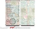 Flowers Pattern 02 - Decal Style skin fits Zune 80/120GB  (ZUNE SOLD SEPARATELY)