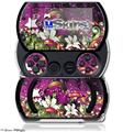 Grungy Flower Bouquet - Decal Style Skins (fits Sony PSPgo)