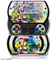 Floral Splash - Decal Style Skins (fits Sony PSPgo)