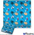 Sony PS3 Slim Decal Style Skin - Beach Party Umbrellas Blue Medium
