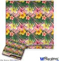 Sony PS3 Slim Decal Style Skin - Beach Flowers 02 Pink