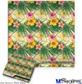 Sony PS3 Slim Decal Style Skin - Beach Flowers 02 Yellow Sunshine