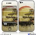 iPhone 4 Decal Style Vinyl Skin - Bonsai Sunset (DOES NOT fit newer iPhone 4S)