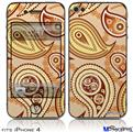 iPhone 4 Decal Style Vinyl Skin - Paisley Vect 01 (DOES NOT fit newer iPhone 4S)