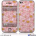 iPhone 4 Decal Style Vinyl Skin - Flowers Pattern 12 (DOES NOT fit newer iPhone 4S)