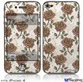 iPhone 4 Decal Style Vinyl Skin - Flowers Pattern Roses 20 (DOES NOT fit newer iPhone 4S)