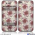 iPhone 4 Decal Style Vinyl Skin - Flowers Pattern 23 (DOES NOT fit newer iPhone 4S)
