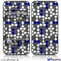 iPhone 4 Decal Style Vinyl Skin - Locknodes 04 Royal Blue (DOES NOT fit newer iPhone 4S)