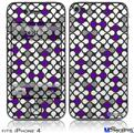 iPhone 4 Decal Style Vinyl Skin - Locknodes 05 Purple (DOES NOT fit newer iPhone 4S)