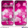 iPhone 4 Decal Style Vinyl Skin - Bokeh Squared Hot Pink (DOES NOT fit newer iPhone 4S)