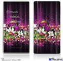 Zune HD Skin - Grungy Flower Bouquet